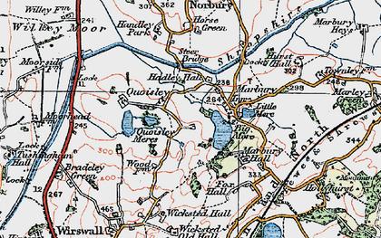 Old map of Marbury in 1921