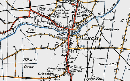 Old map of March in 1922