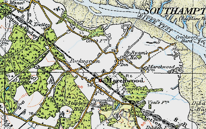 Old map of Marchwood Park in 1919