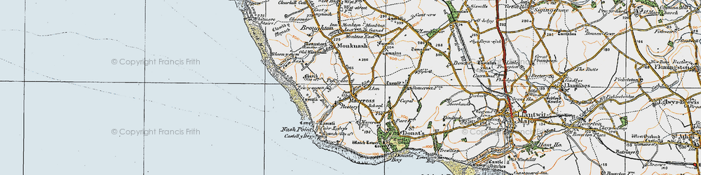 Old map of Marcross in 1922
