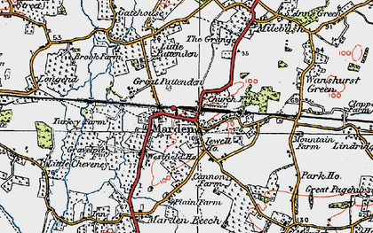 Old map of Marden in 1921