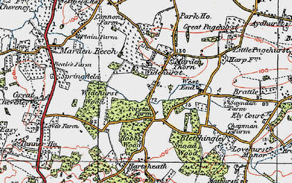 Old map of Widehurst in 1921