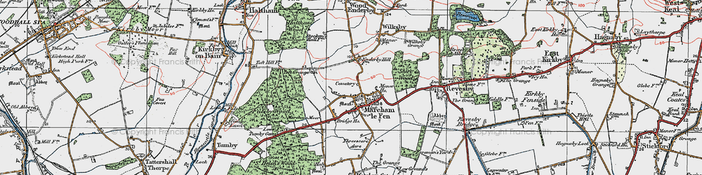 Old map of Mareham le Fen in 1923