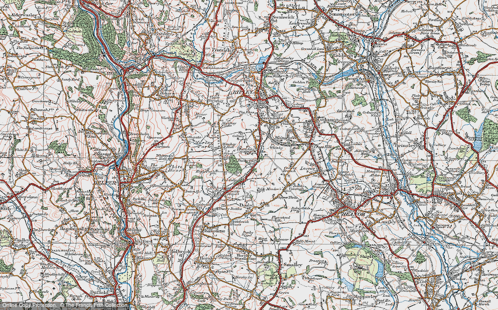 Old Map of Marehay, 1921 in 1921