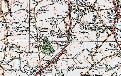 Old map of Marehay in 1921