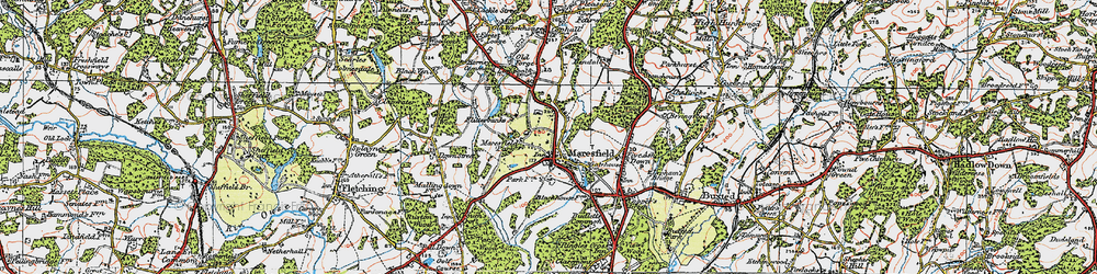 Old map of Maresfield in 1920