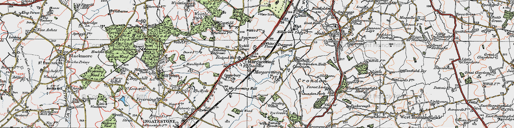 Old map of White's Place in 1920
