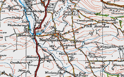 Old map of Wooldown in 1919