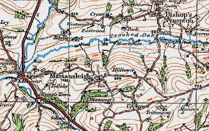 Old map of Tidlake in 1919