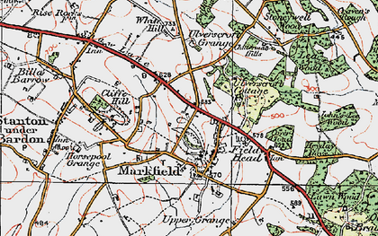 Old map of White Hill in 1921