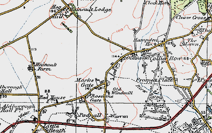 Old map of Marks Gate in 1920