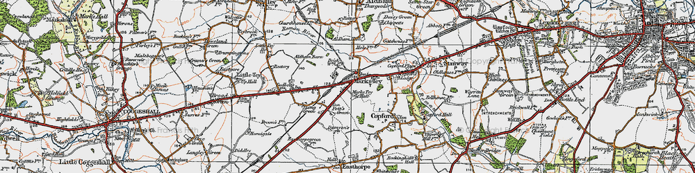 Old map of Aldham Hall in 1921
