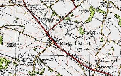 Old map of Markyate in 1920