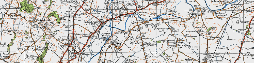 Old map of Marlcliff in 1919