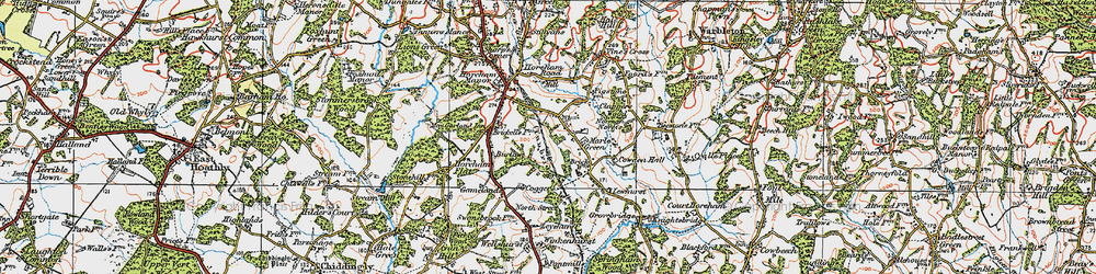 Old map of Winkenhurst in 1920