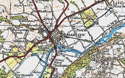 Old map of Marlow in 1919