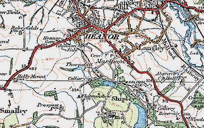 Old map of Marlpool in 1921