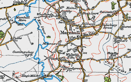 Old map of Marnhull in 1919