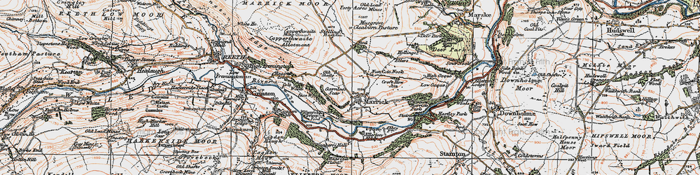 Old map of Marrick in 1925