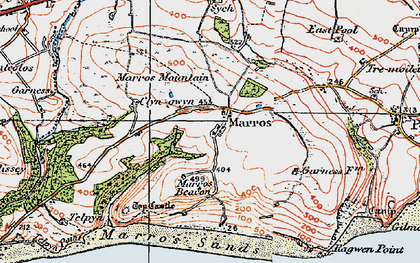 Old map of Marros in 1922