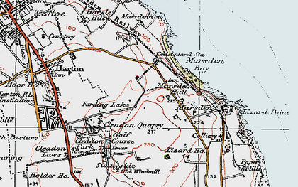 Old map of Marsden in 1925