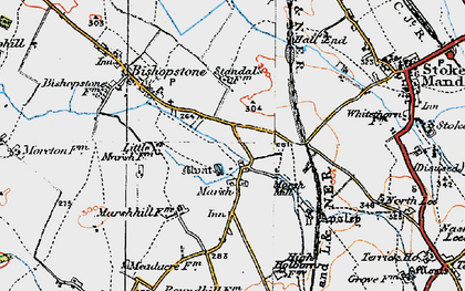 Old map of Marsh in 1919