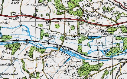 Old map of Benham Park in 1919