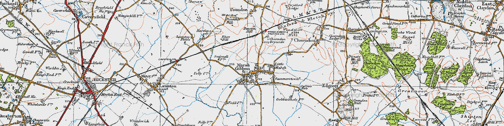 Old map of Westbury Court in 1919