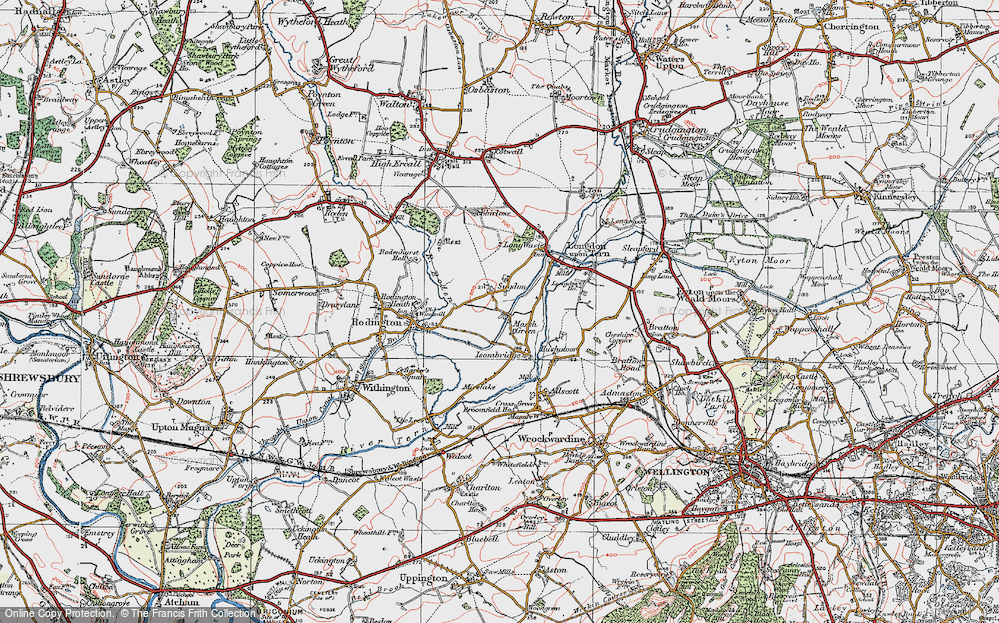 Old Map of Marsh Green, 1921 in 1921