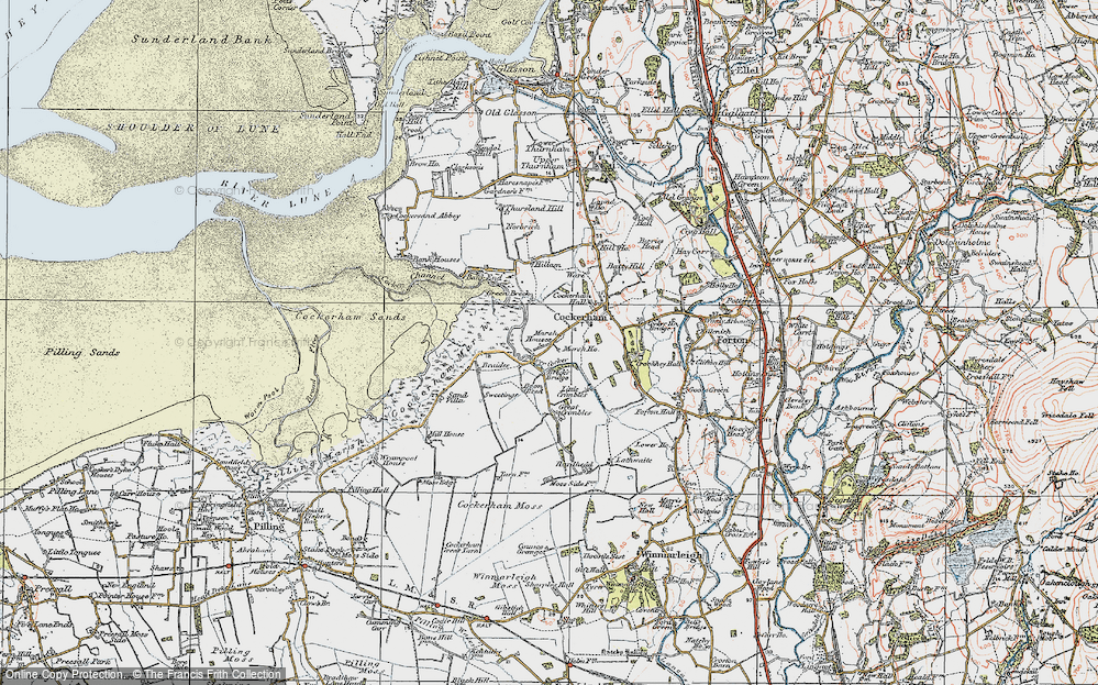 Old Map of Historic Map covering Lathwaite in 1924