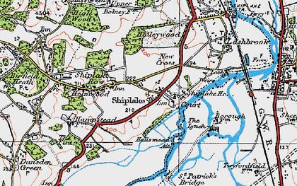 Old map of Marsh Lock in 1919
