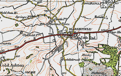 Old map of Marshfield in 1919