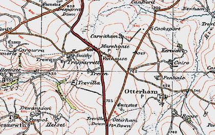 Old map of Marshgate in 1919