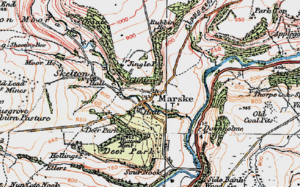 Old map of Marske in 1925