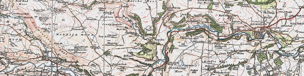 Old map of Marske in 1925