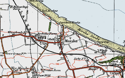 Old map of Marske-By-The-Sea in 1925