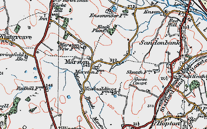 Old map of Yarlet in 1921