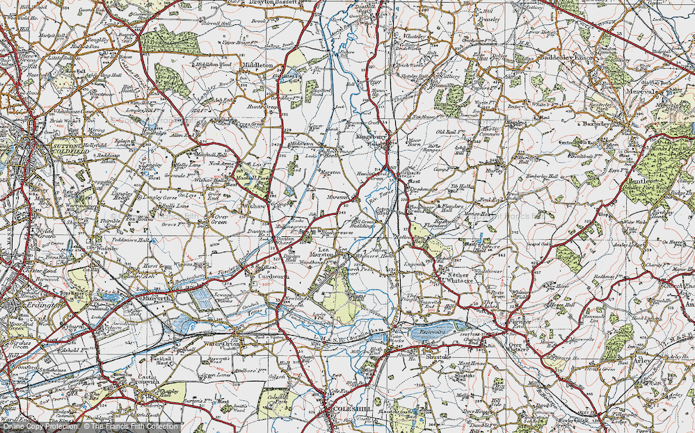 Old Map of Marston, 1921 in 1921