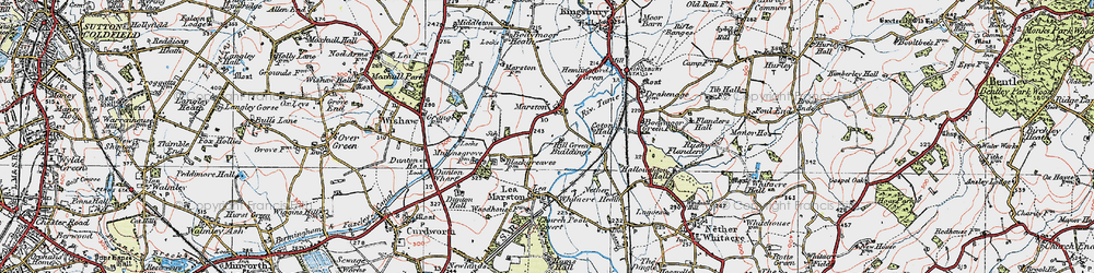 Old map of Marston in 1921