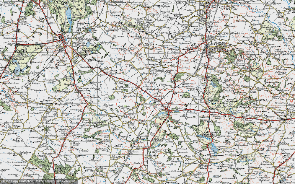 Old Map of Historic Map covering Baguley Fold in 1923