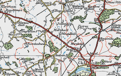 Old map of Baguley Fold in 1923