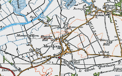 Old map of Martham in 1922