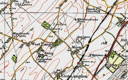 Old map of Appleton Manor in 1920