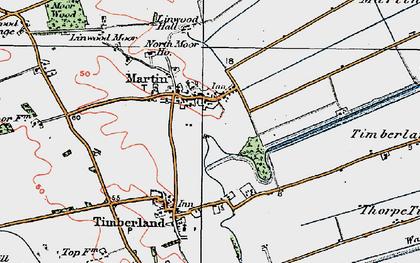 Old map of Linwood Moor in 1923