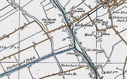 Old map of Timberland Dales in 1923