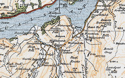 Old map of Winter Crag in 1925