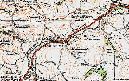 Old map of Woolhanger in 1919
