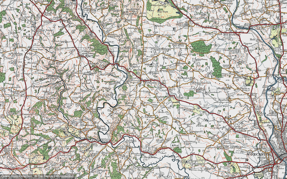 Old Map of Martley, 1920 in 1920