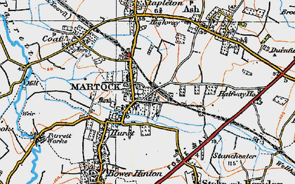 Old map of Martock in 1919