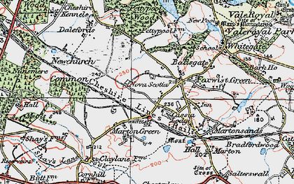 Old map of Whitegate Way in 1923